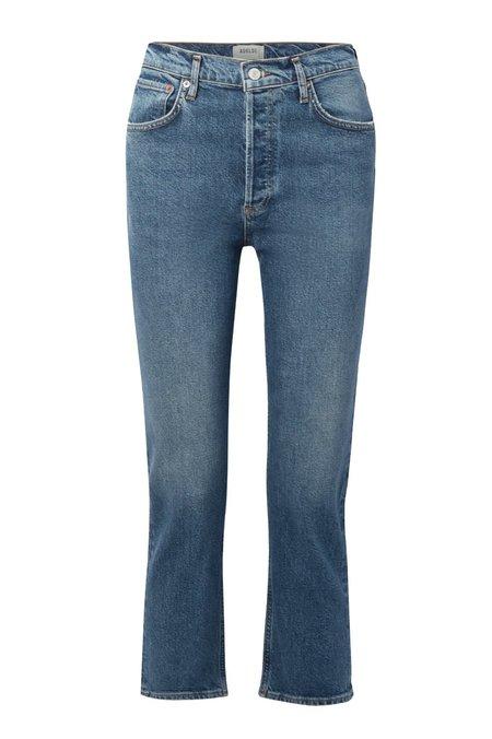 AGOLDE Riley Crop Jeans - Transfer