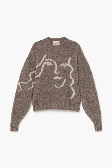 Unisex Paloma Wool Anita Sweater - Taupe Grey