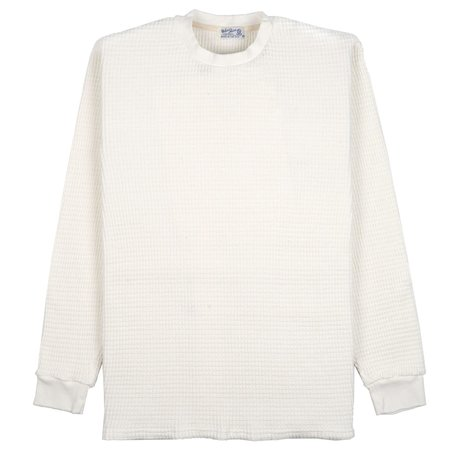 Velva Sheen Heavy Thermal Crew Sweater - Natural
