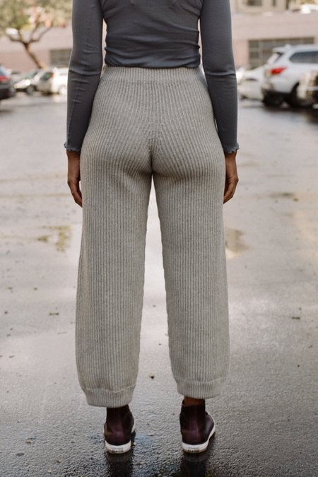 Baserange Tauro Pants - Grey Melange