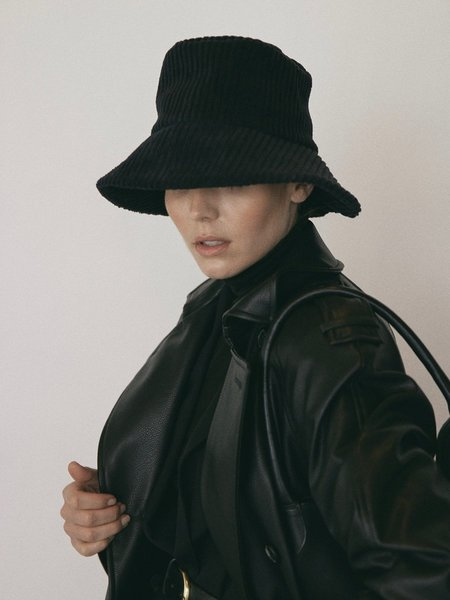 Janessa Leone Tatum Bucket Hat - Charcoal