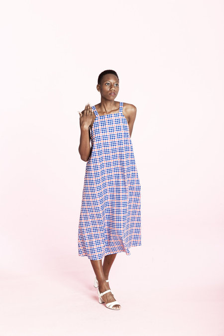Carleen Picnic Dress- Plaid