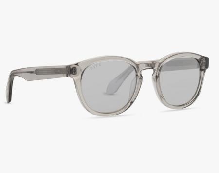 Unisex DIFF Evan Tempete Mirror Lens Sunglasses - Gray
