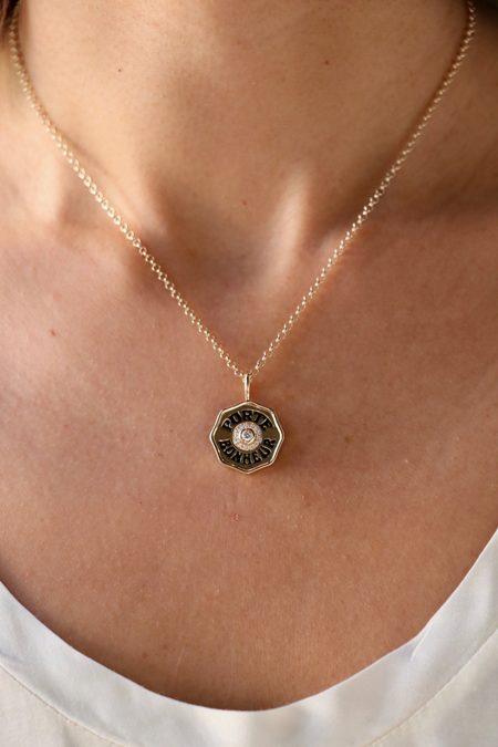 Marlo Laz Mini Enamel Porte Bonheur Necklace