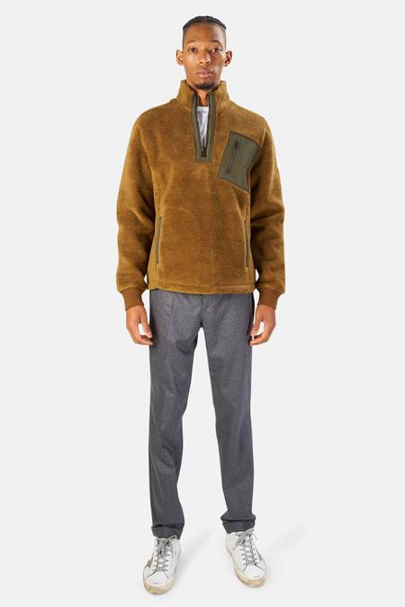 Belstaff Hayle Quarter Zip Sweatshirt Sweater - Earth