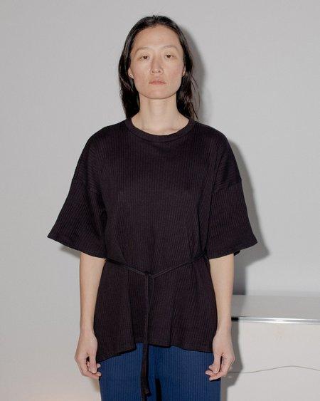 Baserange  shirt 100% Organic Cotton Shaw Tee - Black