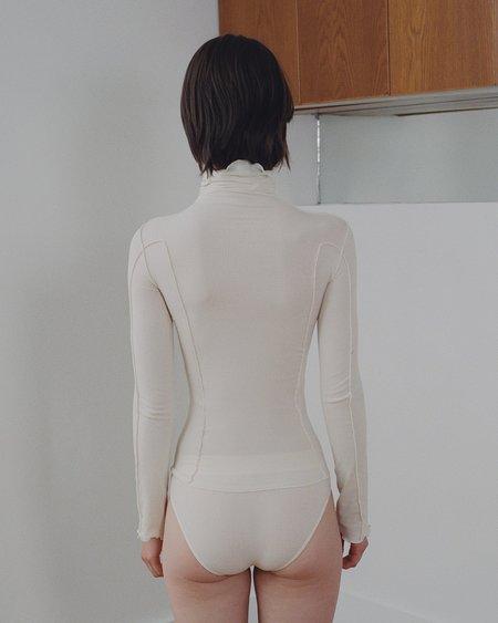 Baserange Organic Cotton Turtleneck Shirt - Off White