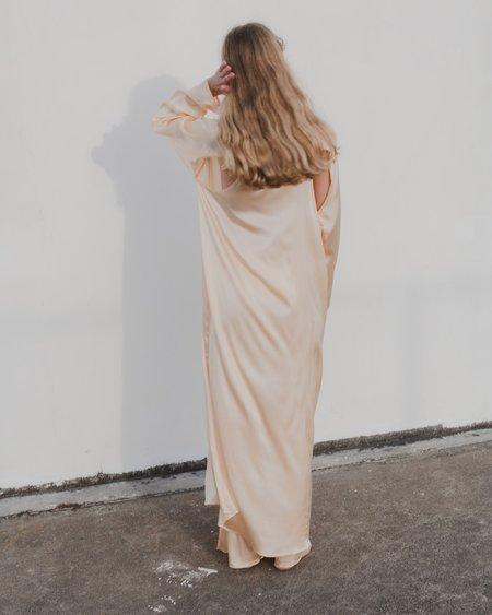 Baserange Silk Dress - Nod Peach
