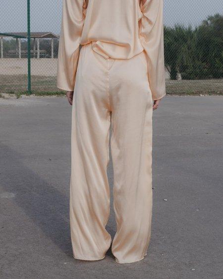 Baserange Silk Pants - Nod Peach