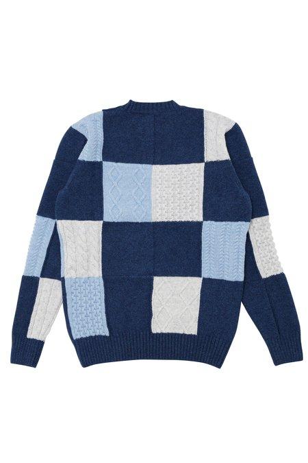 Country of Origin X Bergdorf Goodman #1 sweater - Blue/Cream