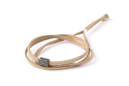 LERA Jewels Cylinder Bead Wrap Bracelet or Choker