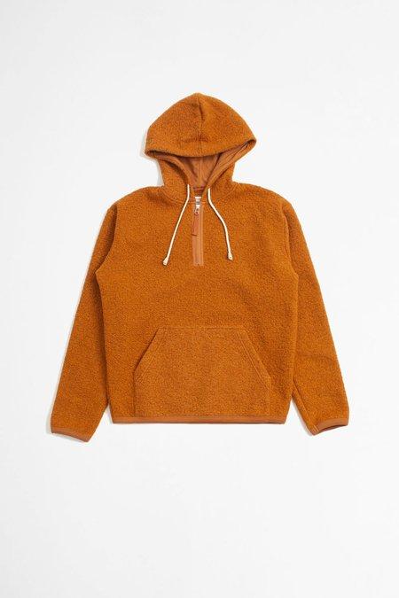 Universal Works Beach hoody tibet fleece sweater - orange