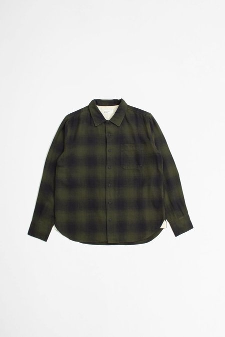 Universal Works Eastside shirt - shadow check olive