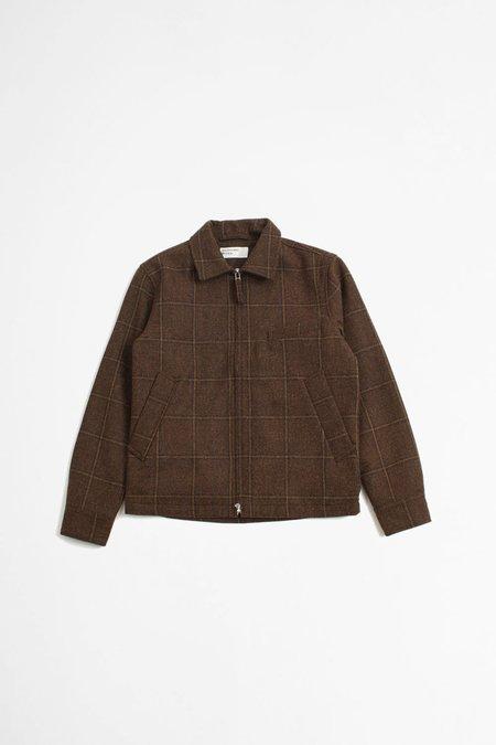 Universal Works Alberto Windcheater Ii Jacket - Check Brown