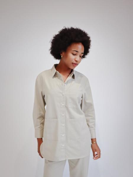Marvin Ruby Birdie Shirt - Gray