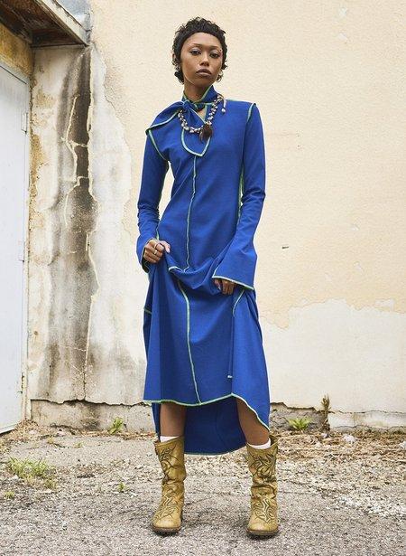 Eliza Faulkner Pippa Dress - Electric Blue/Lime Green