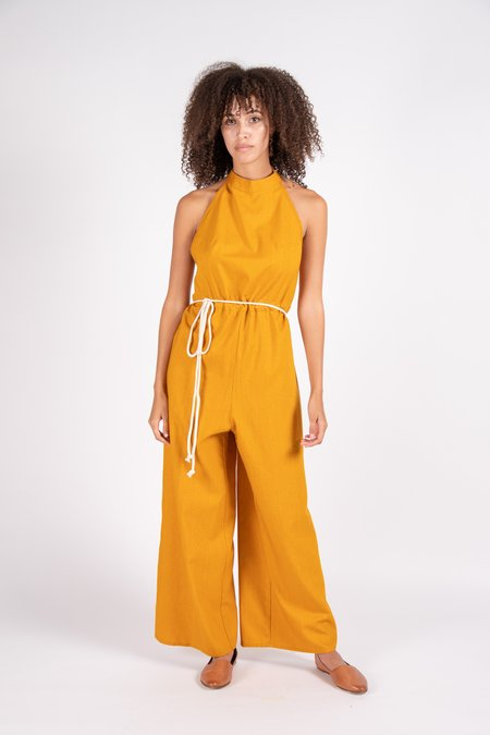 Baserange Shore Silk/Wool Jumpsuit - Wild