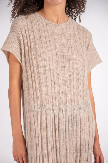 Atelier Delphine Tate Ribbed Alpaca Dress - Latte