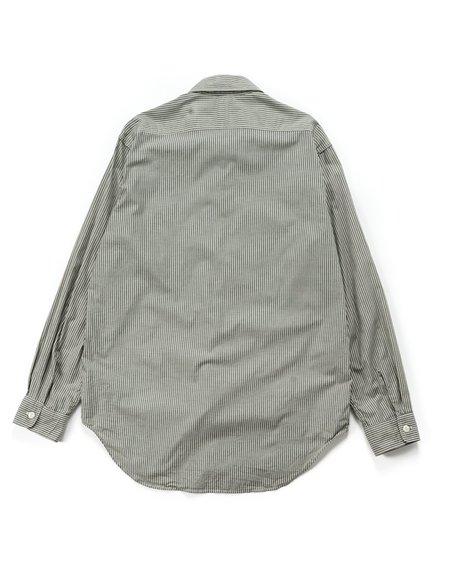 Engineered Garments Cotton Crawford Stripe Workaday Utility Shirt - Green