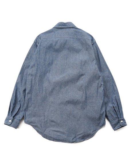 Engineered Garments Cotton Raw Chambray Workaday Utility Shirt - Indigo