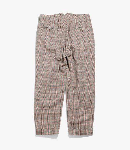 Engineered Garments Wool Poly Glen Plaid WP Pant - Brown/Orange