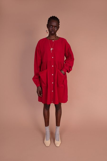 Meadows Forest Dress - Red