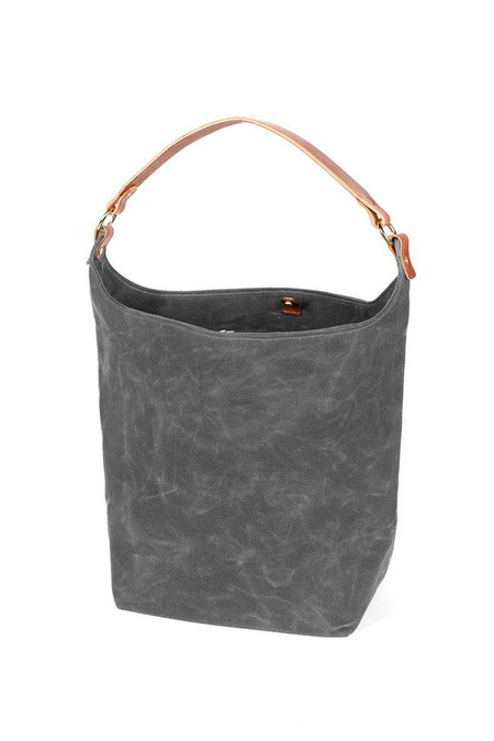 Wood & Faulk Anvers Market Tote North Coast Grey