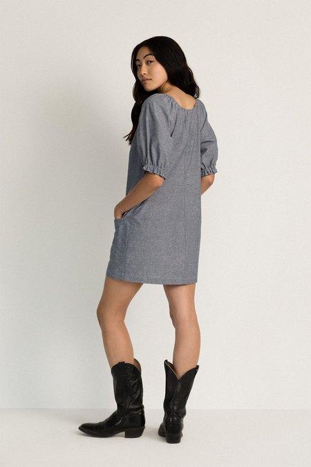 Neranese Meadow Dress - Indigo Chambray
