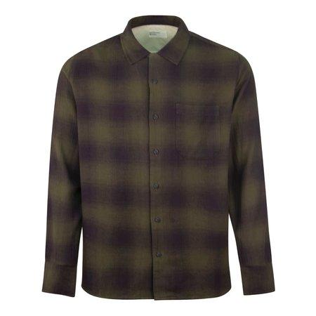 Universal Works Eastside Shadow Check Shirt - Olive