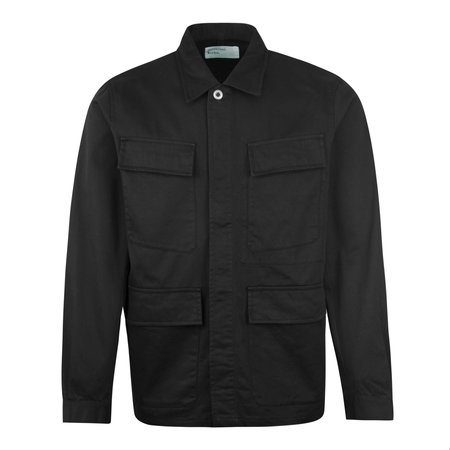 Universal Works MW Fatigue Cotton Twill Overshirt - Black
