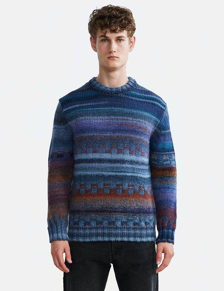 NN07 Jackson Wool Crewneck Sweater - Blue Multi