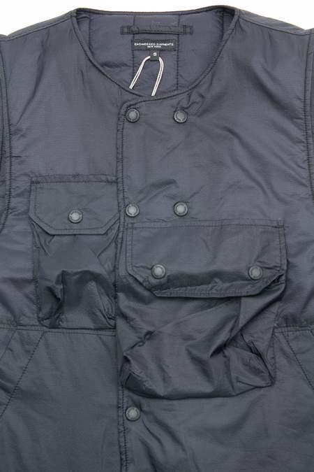 Engineered Garments Nylon Micro Ripstop Cover Vest - Dark Navy
