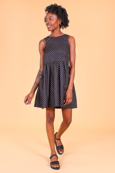 Modaspia Sundress in Black Dot