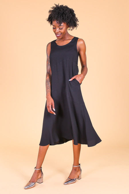Svilu Tank Dress in Black