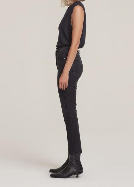 AGOLDE Riley High Rise Straight Crop Jeans - Panoramic
