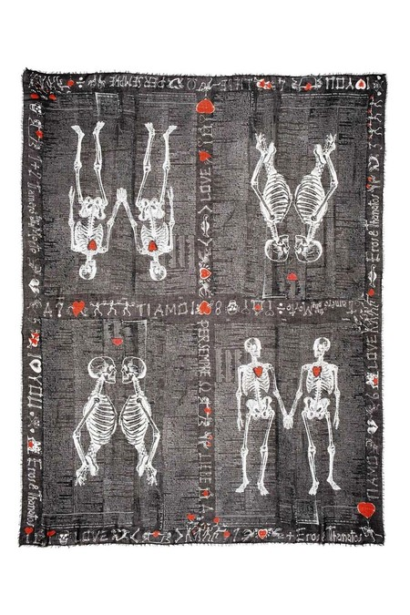 Faliero Sarti - Need Love Scarf - Black Print