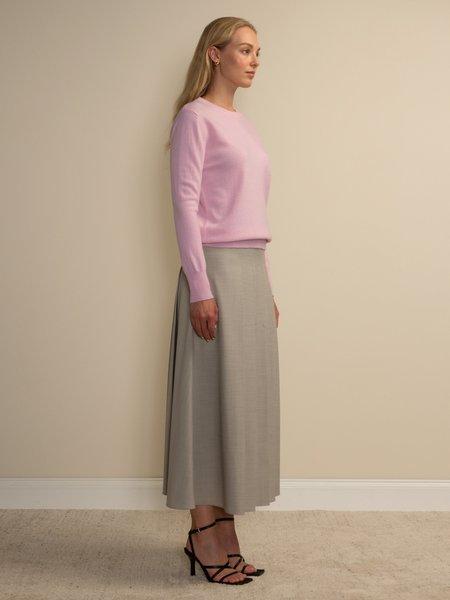 PURECASHMERE NYC Classic Crew Neck Sweater - Pink Blush