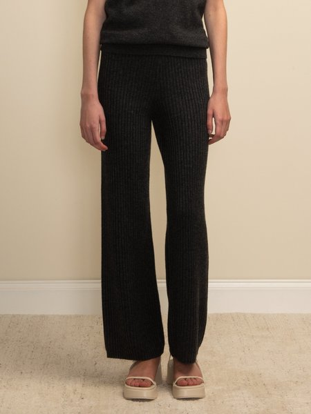 PURECASHMERE NYC Long Straight Fit Pants - Graphite