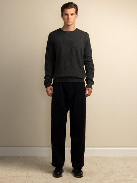PURECASHMERE NYC Men Crew Neck Sweater - Graphite