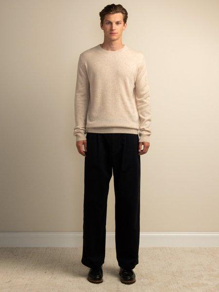PURECASHMERE NYC Men Crew Neck Sweater - Oatmeal
