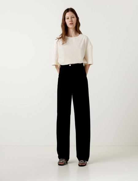 Lemaire High Waisted Pants Black