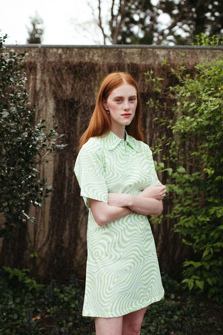 Mane Project Gratify Shift Dress - Hypno Green