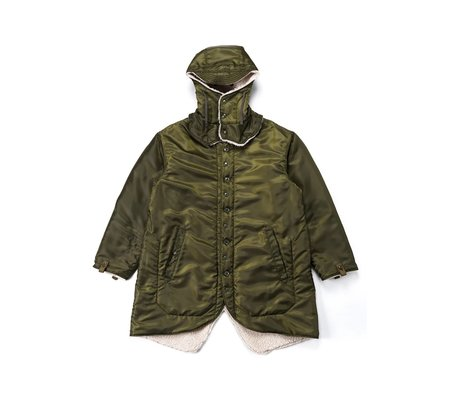 Engineered Garments  Drab Polyester Pilot Twill Liner Jacket - Olive