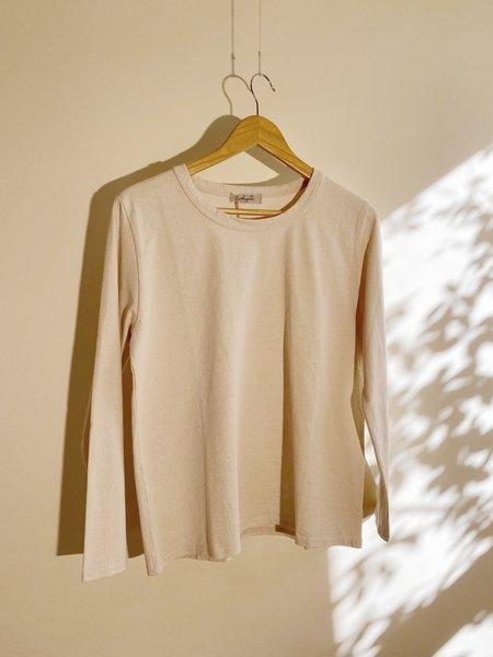 ICHI ANTIQUITES Organic Cotton Pullover - Natural
