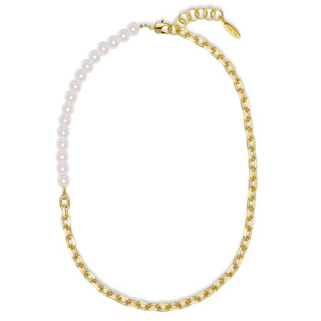 Joomi Lim Asymmetrical Long Chain Pearls Necklace