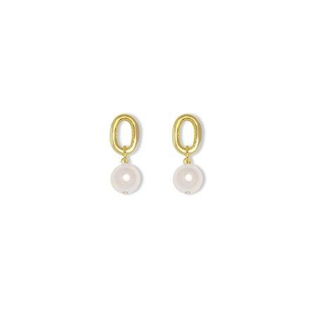 Joomi Lim Chain Link Pearls Earrings - brass