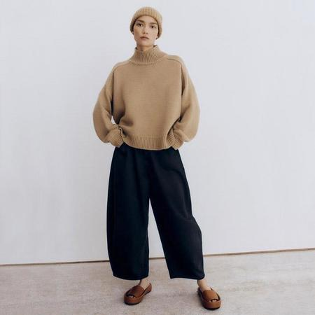 Mónica Cordera Wool Saddle Sweater - Camel