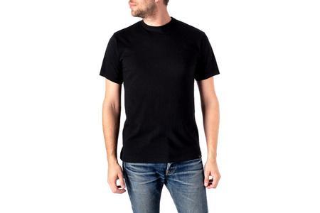Iron Heart 6.5oz Loopwheel Crew Neck Longer Body T-Shirt - Black