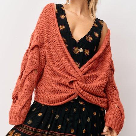 Iro Mohair Blend Pullover - Orange