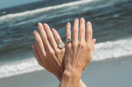 Luiny ABALONE RING - SILVER